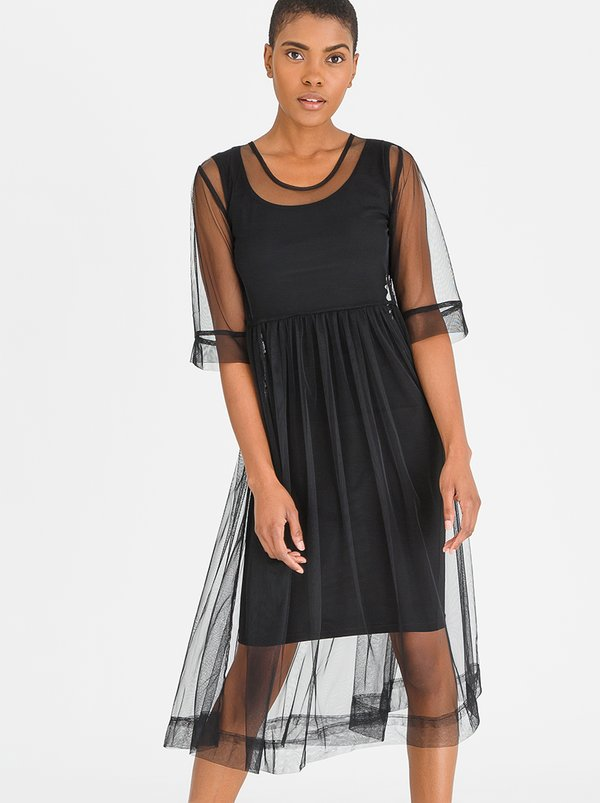 Isabel de Villiers Tulle Summer Dress Black