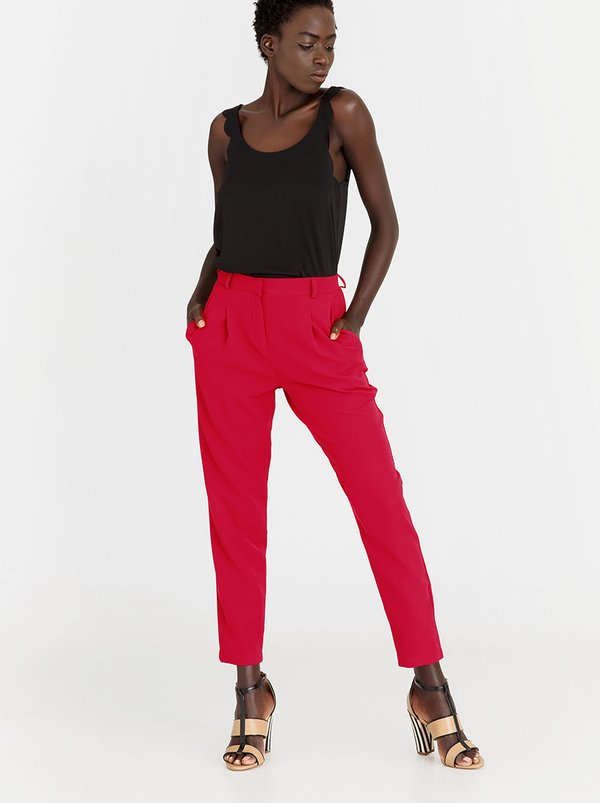 edit Tapered Smart Pants Red