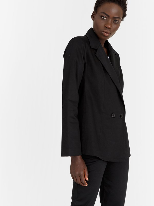 Oversized Blazer Black | STYLE REPUBLIC