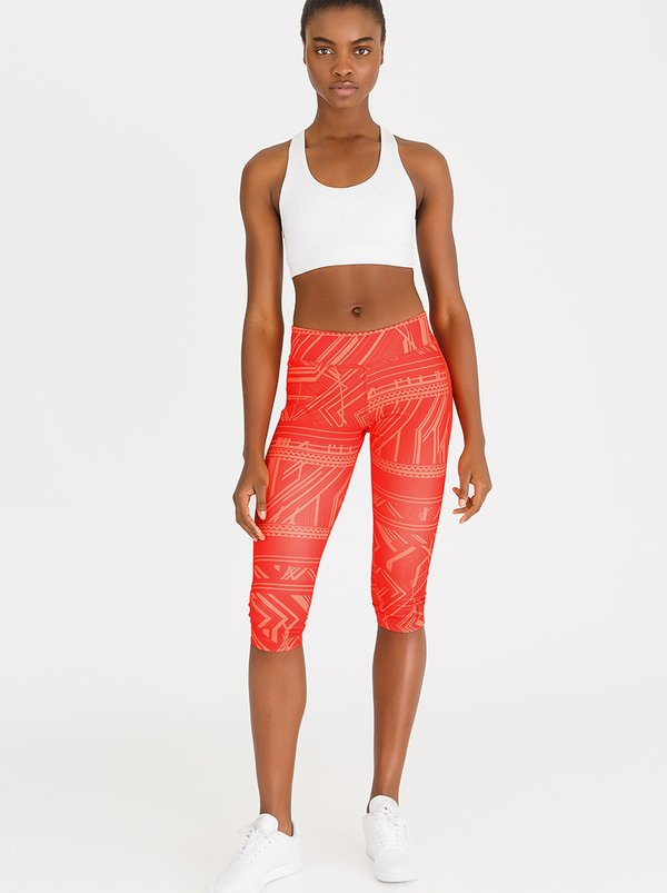 Reebok Training WOR Geometric Capri Red