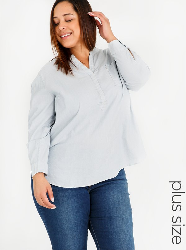 Levi's® Easy Popover Top Mid Blue