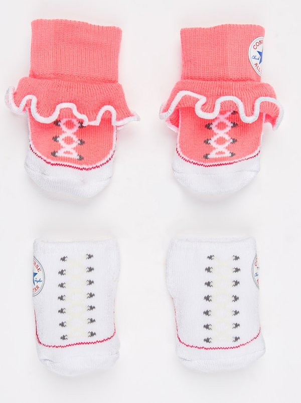 Converse 2 Pack Frilly Chuck Booties White