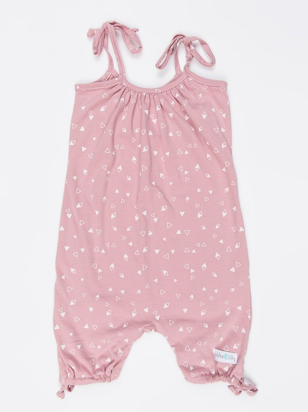 Pickalilly Printed Playsuit Pale Pink