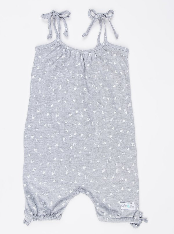 Pickalilly Printed Playsuit Grey