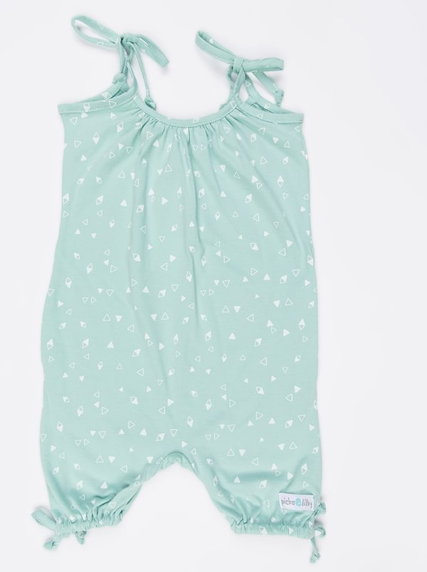 Pickalilly Printed Playsuit Pale Blue