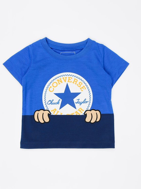 Converse Peeping Patch Chuck Tee Blue