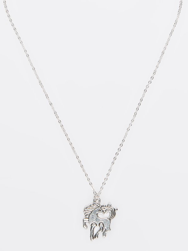 Jewels and Lace Unicorn Necklace Silver