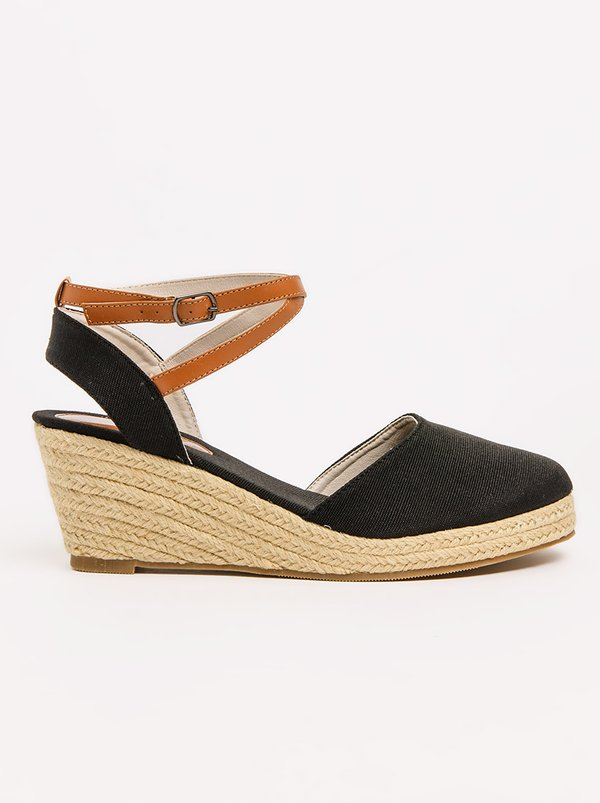 Awol Ankle-strap Wedges Black