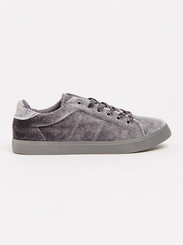Roxie Velvet Sneakers Grey | Madison