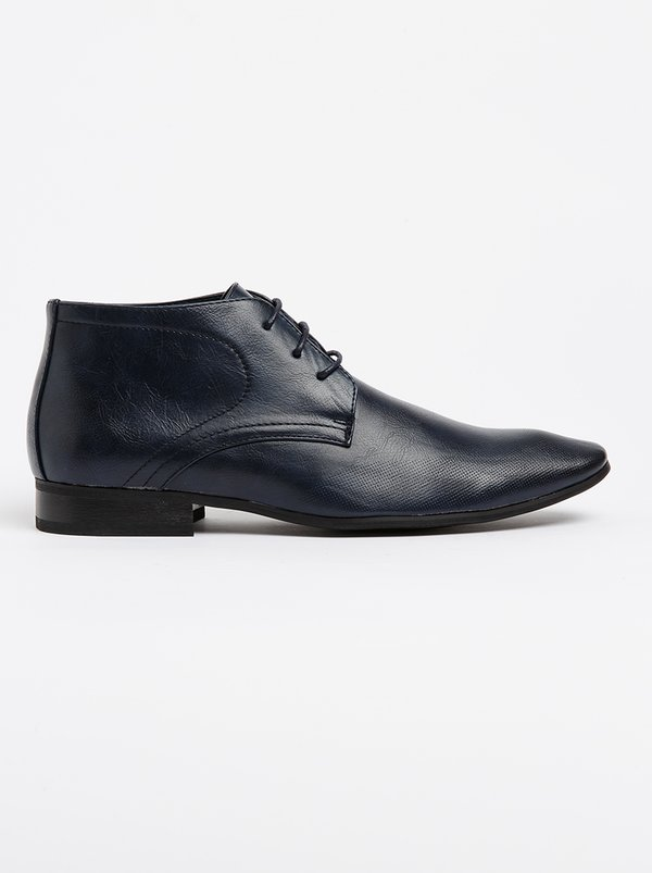 Franco Ceccato Formal Lace Up Boots Navy