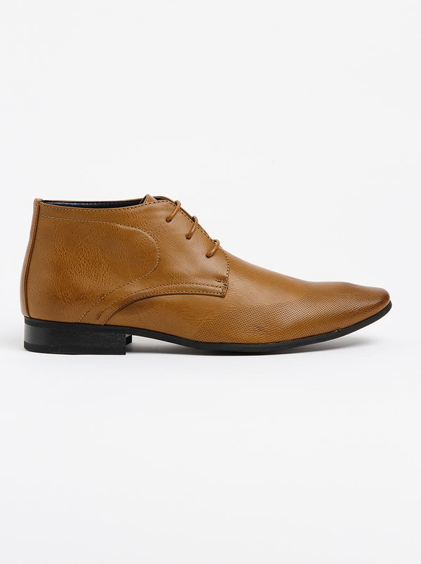 Franco Ceccato Formal Lace Up Boots Brown