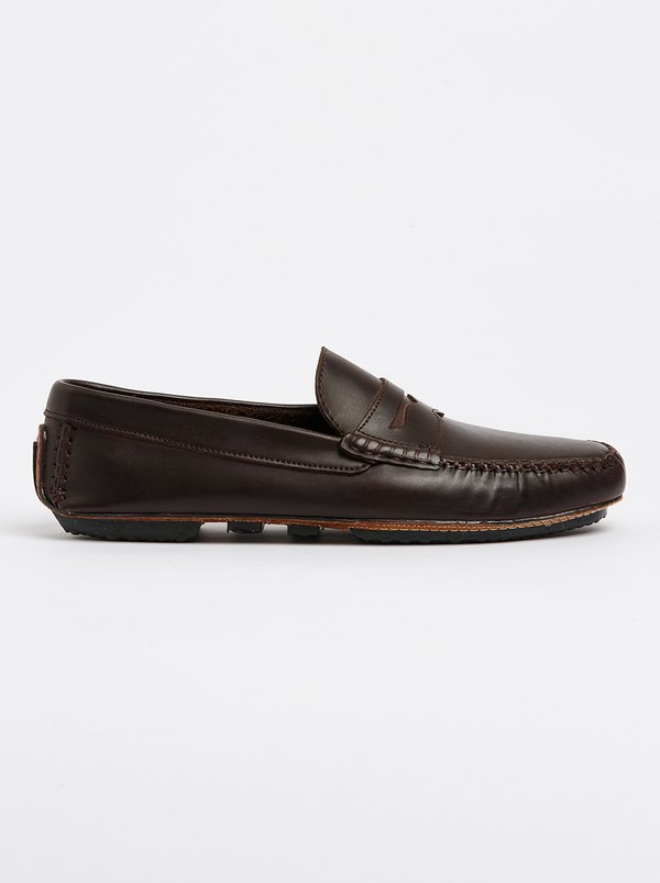 Franco Ceccato Moccasin With Band Trim Shoe Brown