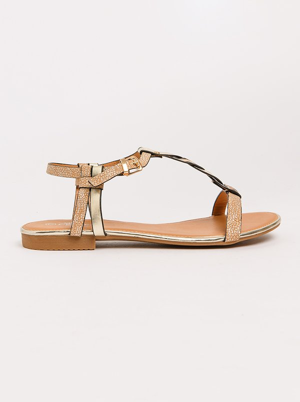 Prow T-bar Sandals Rose gold Miss Black sale wholesale price free shipping brand new unisex buy cheap store free shipping browse outlet extremely yUXklA