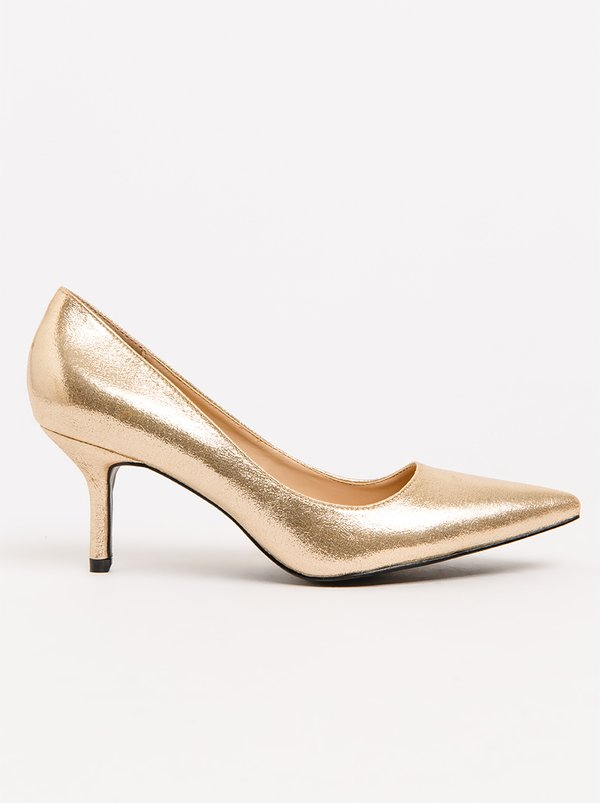 Queue Pointy Metallic Courts Rose gold