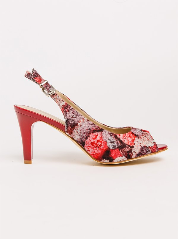 Queue Slingback Heels Burgundy