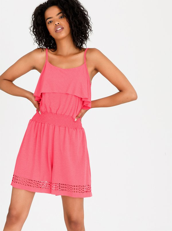 Roxy Romantic Daze Jumpsuit Coral