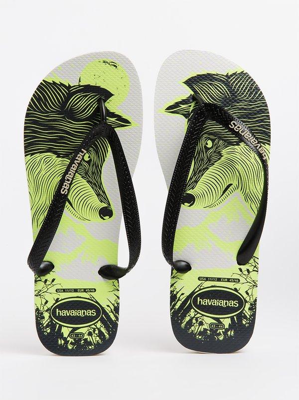 Havaianas 4 Nite Glow In Dark Flip Flops White