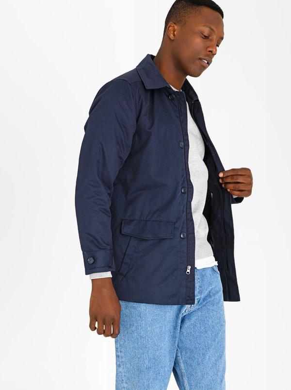 Essential Twill Jacket Navy   STYLE REPUBLIC