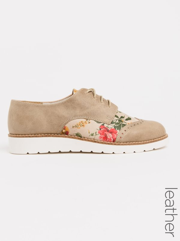 Leather Laser-cut Detail Lace-ups Nude Phelan looking for sale online outlet comfortable buy cheap 2014 unisex Bodspi1Tc