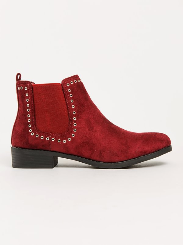 Queenspark Flat Patent Eyelet Boots Burgundy amazing price cheap price recommend cheap price prices cheap price vb9kViIP2g