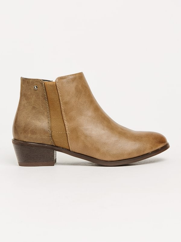 Talitha Elasticated Detail Ankle Boots Brown Franco Gemelli hot sale cheap online Y1GiLi