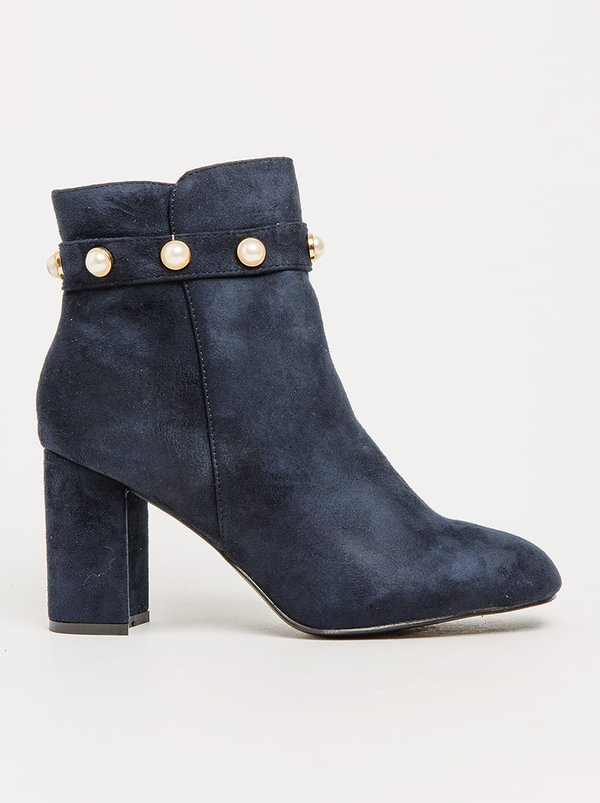 Pearl Cuff Ankle Boots Navy Jada wholesale online tumblr online discount official site cost cheap price cheap sale prices IikD7I