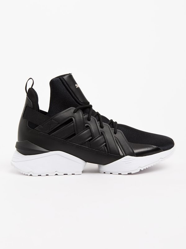 Muse Echo Satin Sneakers Black | PUMA