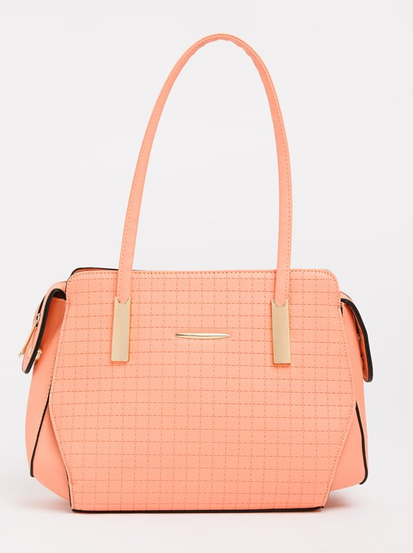 BLACKCHERRY Structured Tote Bag Pale Pink