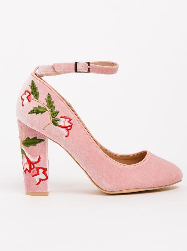Venti Embroidered Heels Pale Pink FOOTWORK marketable online 9WBP5gfoag