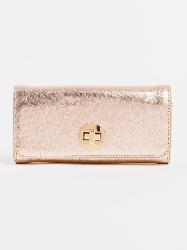 Queue Stud Detail Purse Rose