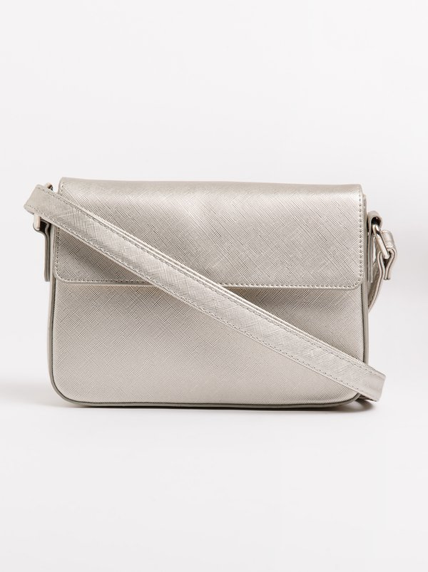 Queue Quilted Cross Body Bag Silver