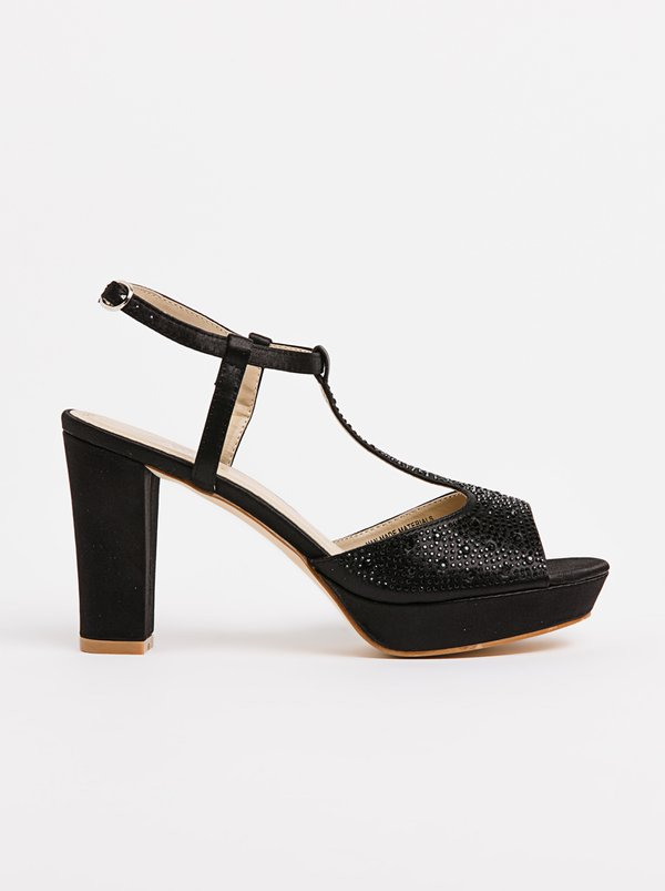 Franco Ceccato Alessio Embellished T-Bar Heels Black