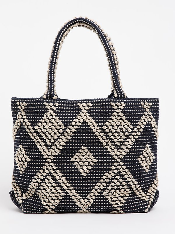 Queue Geometric Print Tote Bag Multi-colour