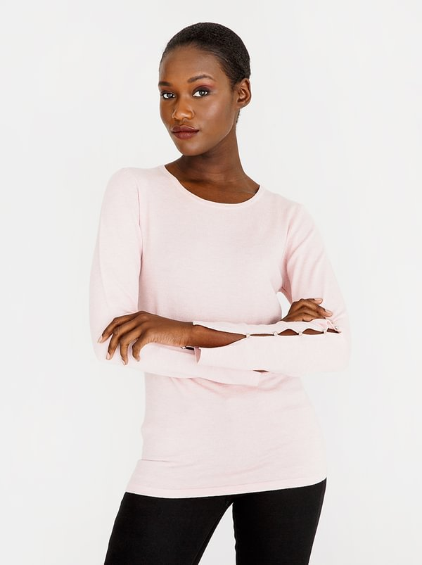 cath.nic Split Sleeve Jersey Mid Pink