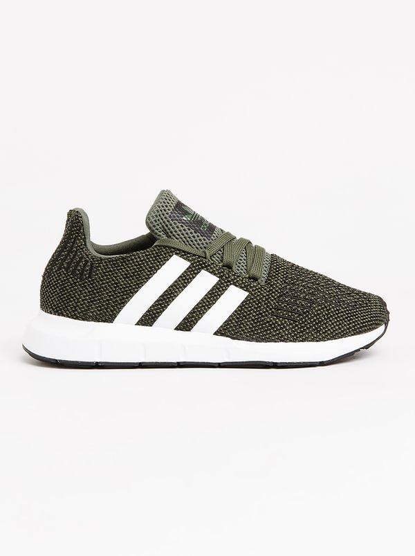 adidas originali swift run j scarpa verde scuro 337566y