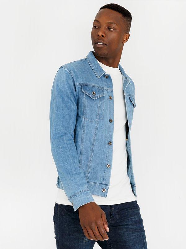 Trucket Patch Pocket Jacket Mid Blue | Resist