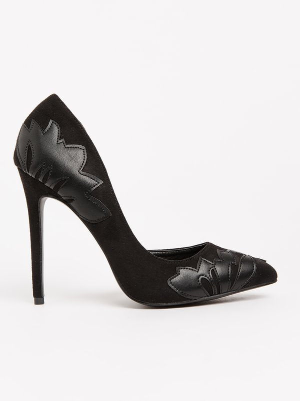 cheap manchester great sale genuine PLUM PLUM Cadence Heeled Pointy Courts Black sale Cheapest i8PwFZtk8