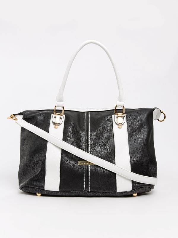 BLACKCHERRY Tote Handbag Black and White
