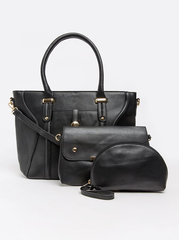 BLACKCHERRY Tote Handbag Black