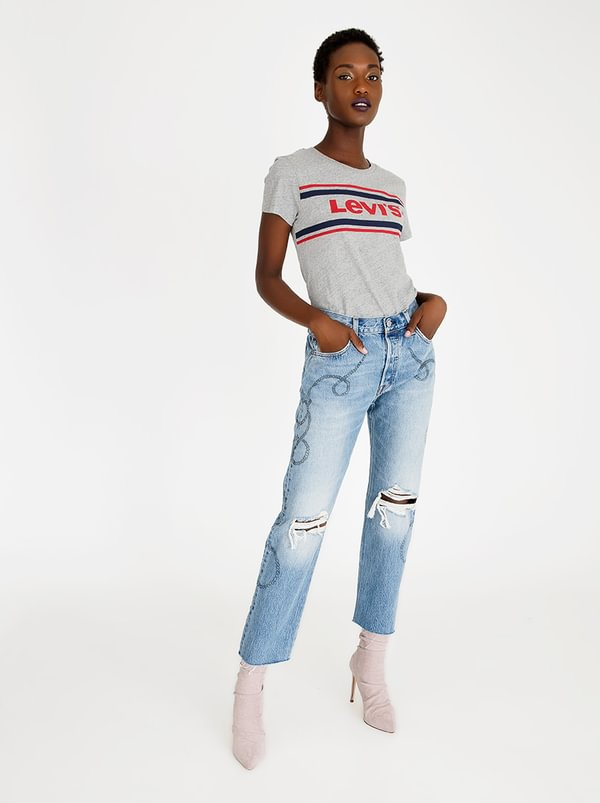 501 Cropped Birthday Bae Jeans Mid Blue | Levi's®