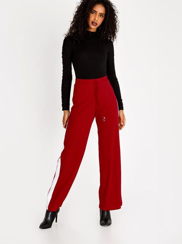 Racing Stripe Pants Red   c(inch)