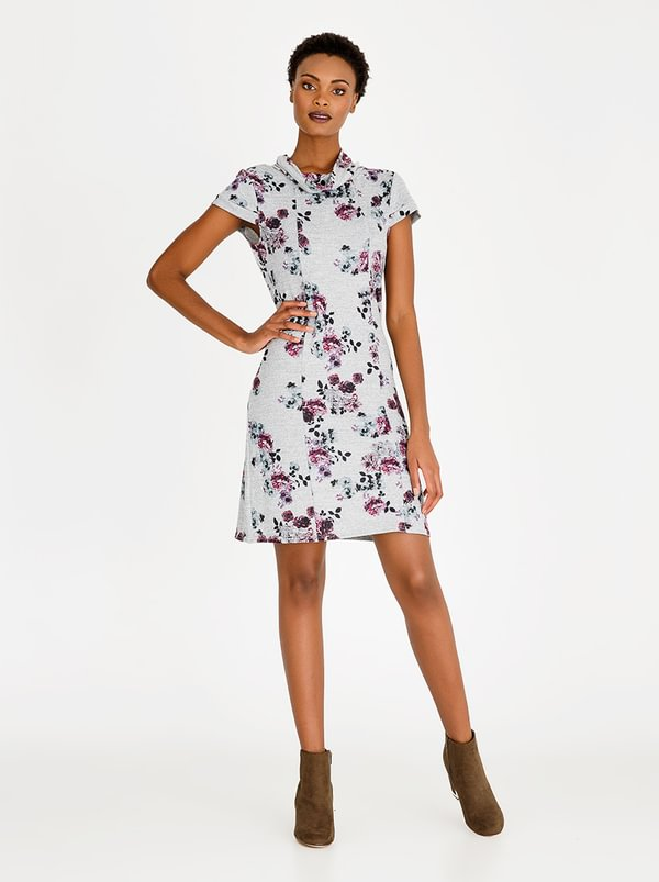 cath.nic Floral Printed Dress Grey