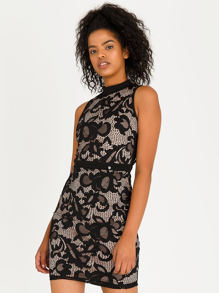 silver spoon midi lace dress sispsdrsbpnkx0010000 | spree.co.za