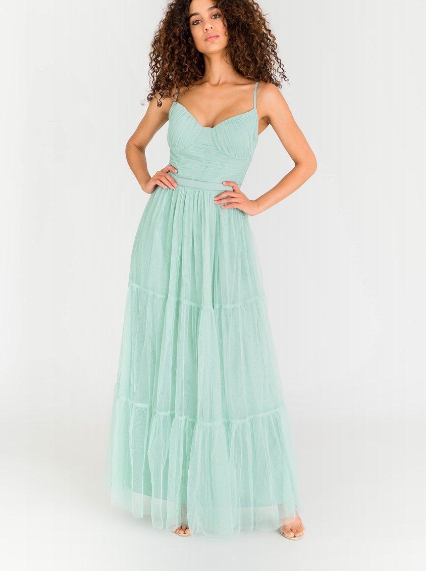 Little Mistress Mesh Maxi Dress Light Green 549T6FG   spree.co.za