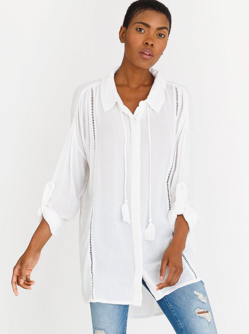 5d318638ae9821 RIP CURL Lara Beach Shirt White