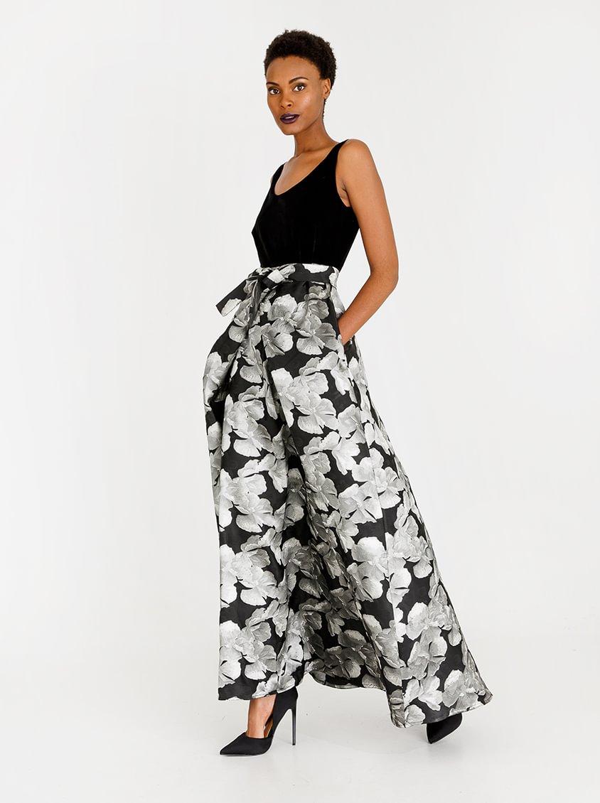 AMANDA LAIRD CHERRY Esihle Wrap Front Sleeveless Dress Black