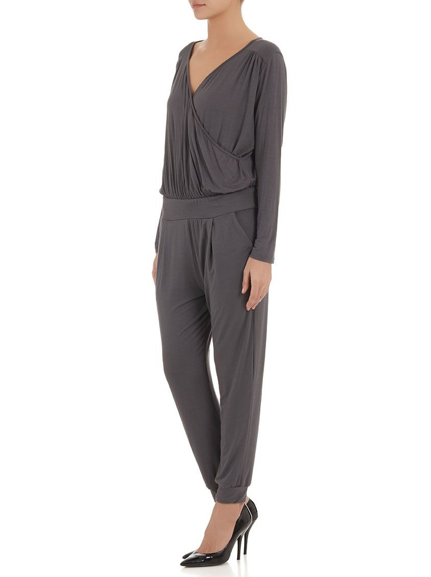 2b632b32750 Anneen Henze Long-sleeve jumpsuit dark Grey F7WDHJX