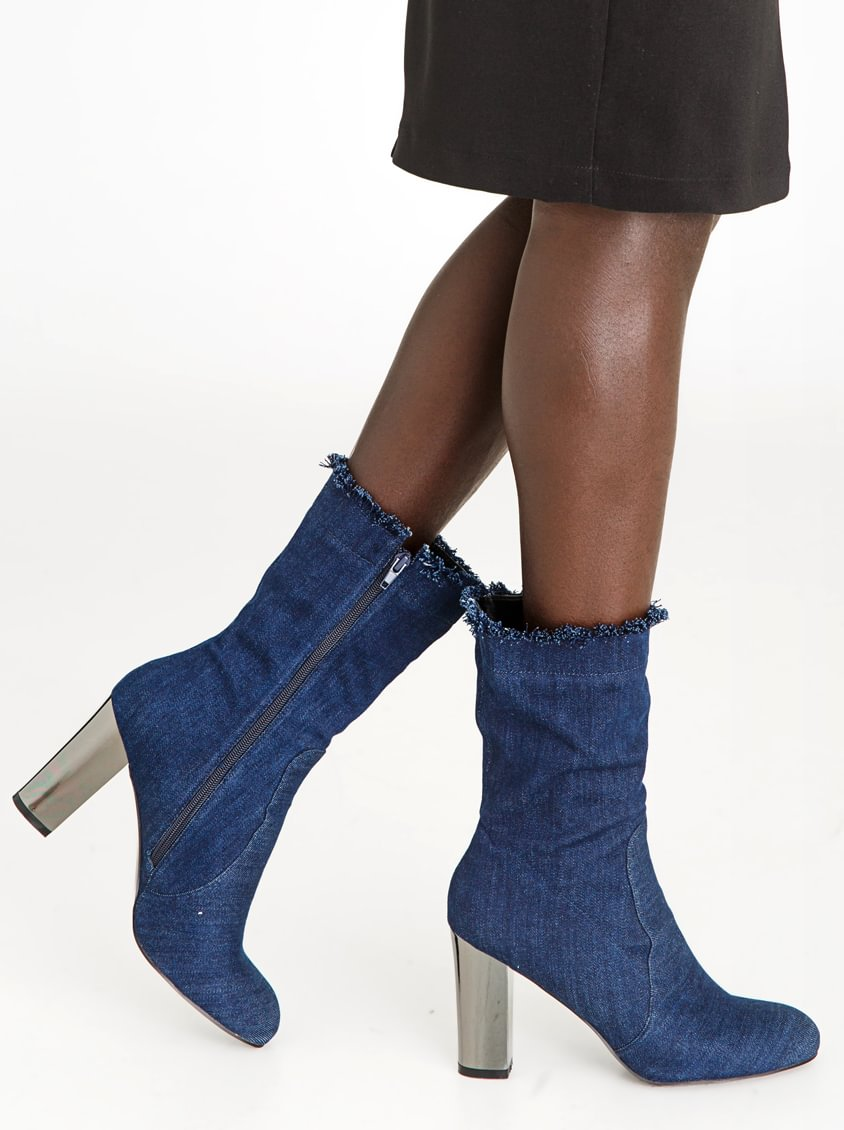 Velvet Ankle Boot Black Gia by Queue outlet locations cheap price cheap with mastercard cheap sale amazon YsYlCH0ybp