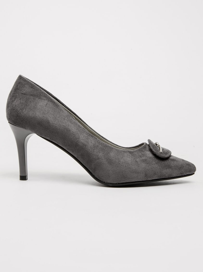 classic top brands outlet store Pierre Cardin Court Heels Grey