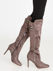 Neda Knee length Boots Grey STYLE REPUBLIC sale vlQFL